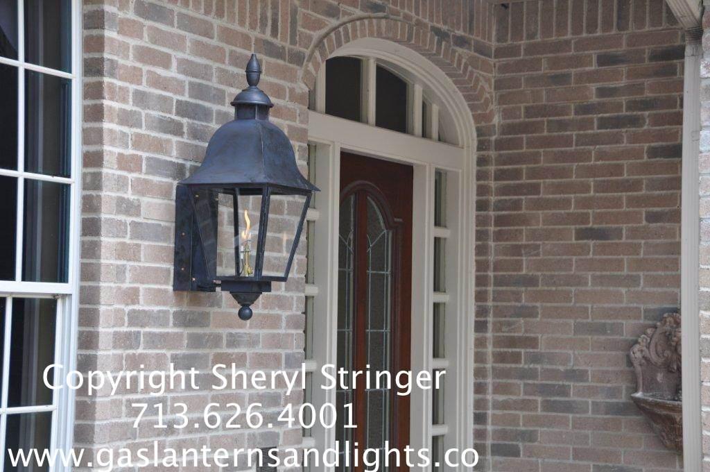 Sheryl's Tuscan Gas Lantern with Dark Patina Finish