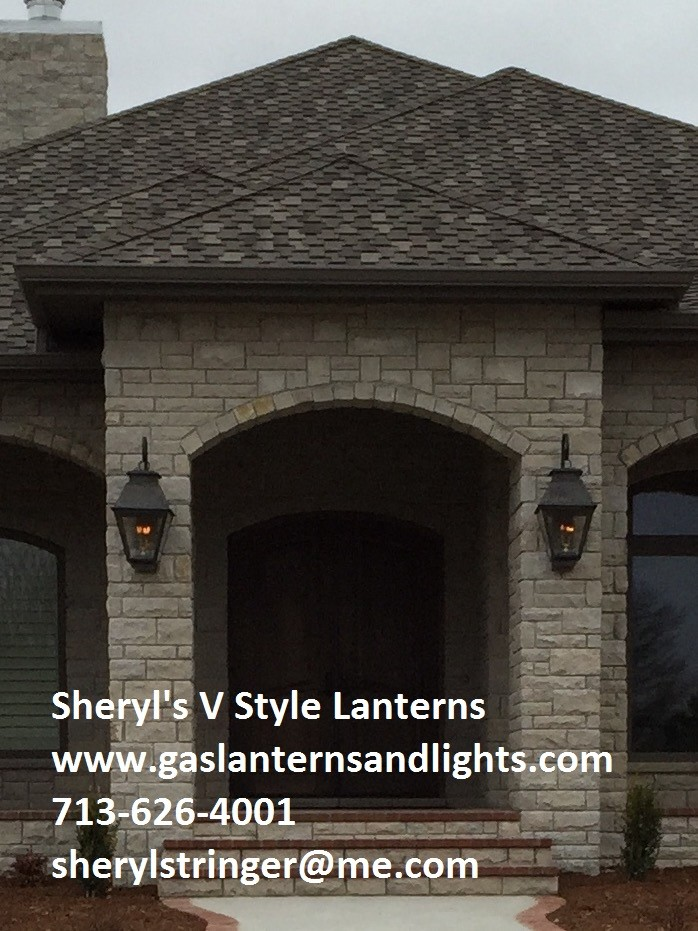 Sheryl's V Style Gas Lanterns with Copper Curls