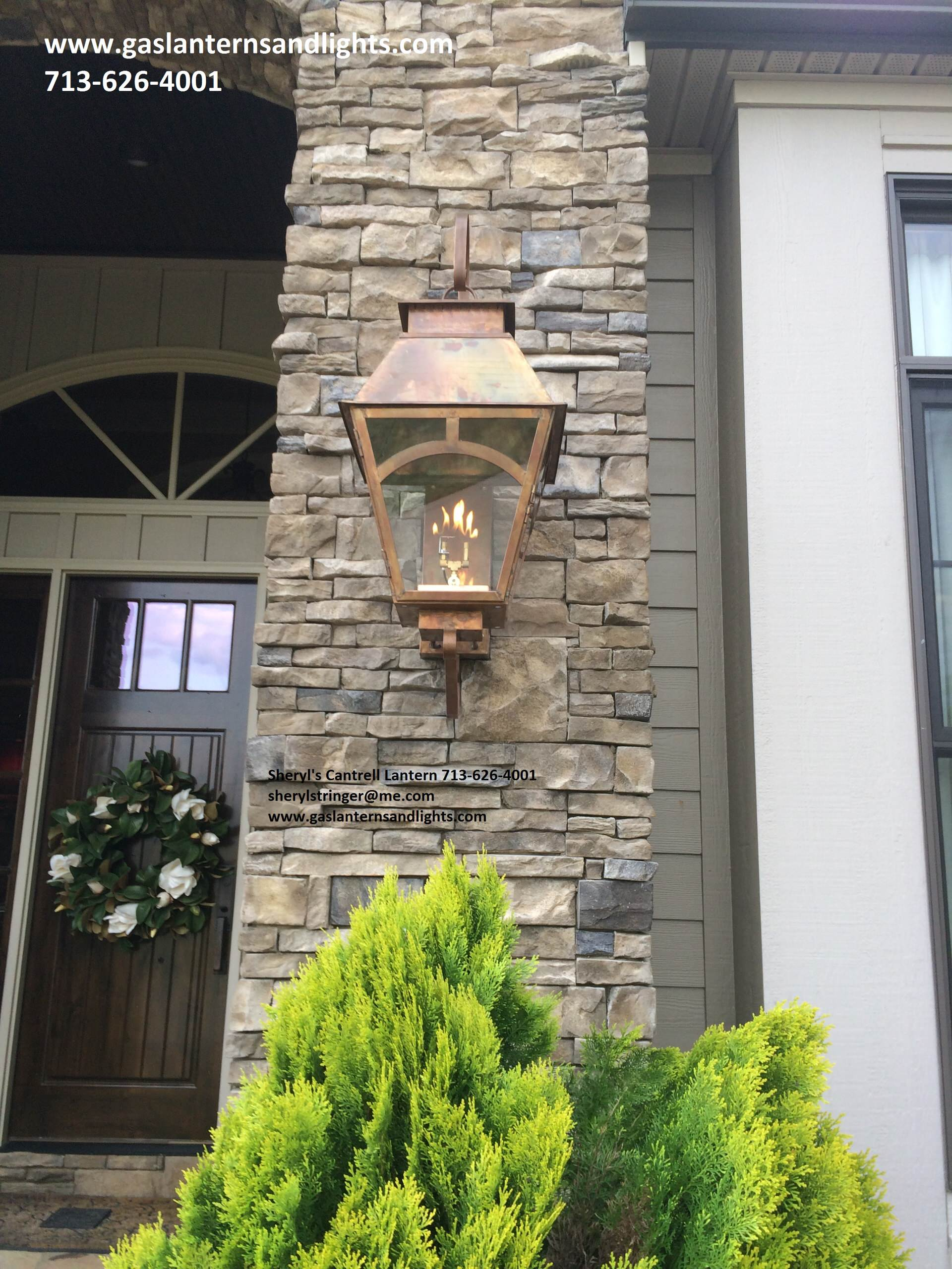 Sheryl's Veronica Gas Lantern with Cantrell Details