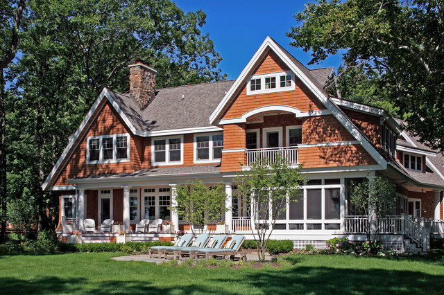 Shingle style cottage lakeview exterior for Shingle style cottage