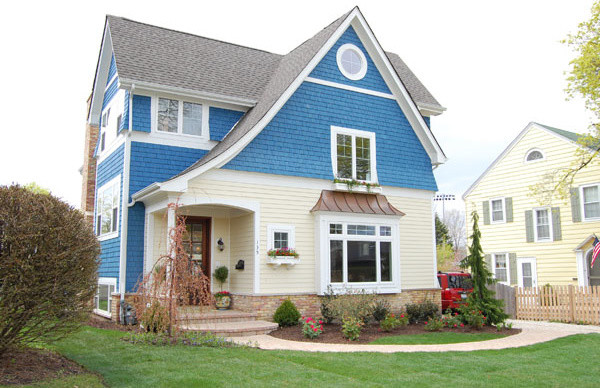 Shingle style cottage traditional exterior chicago for Shingle style cottage