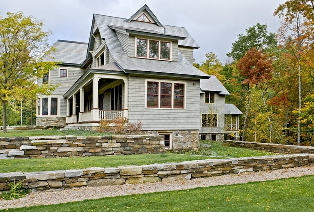 Shingle style home in Hanover NH traditional-exterior
