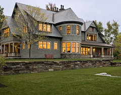 Shingle style home in Hanover NH traditional exterior