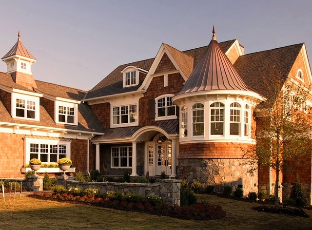Shingle style house victorian exterior detroit by for Luxury shingle style house plans