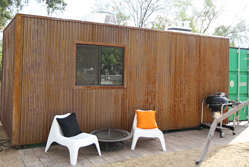 Shipping Container Tiny House Modern Exterior Phoenix by