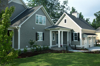 ... Hill - Traditional - Exterior - raleigh - by Tab Premium Built Homes