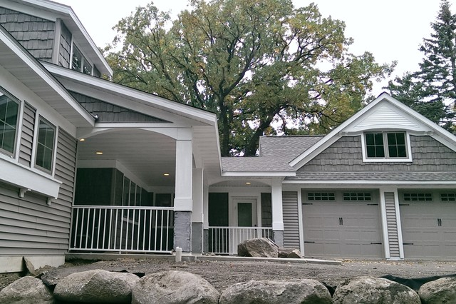 Shoreview Custom Home Contemporary Exterior Minneapolis By American P