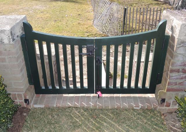 Captivating Short Garden Gate Hardware Double Gate Traditional Exterior