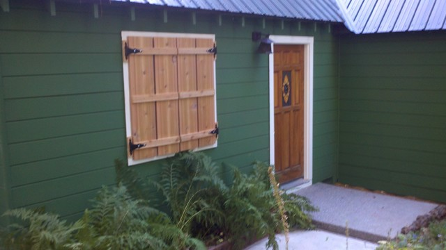 Shutters for Cabin traditional-exterior