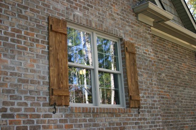 Shutters farmhouse-exterior