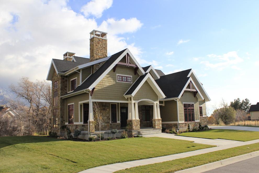 Inspiration for a craftsman exterior home remodel in Salt Lake City