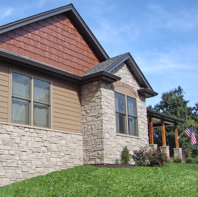 Siding and trim in diamond kote french gray exterior for Lp smartside shake colors