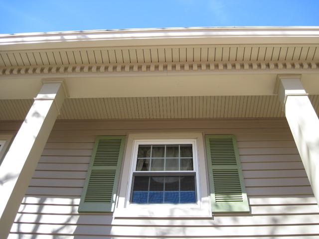 Siding, soffit, trim, dentil moulding - Traditional - Exterior ...