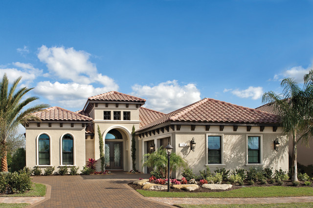 Sienna 1220 mediterranean exterior tampa by arthur for Custom home plans florida