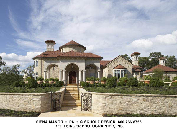 Sienna manor mediterranean exterior other by for Scholz home plans