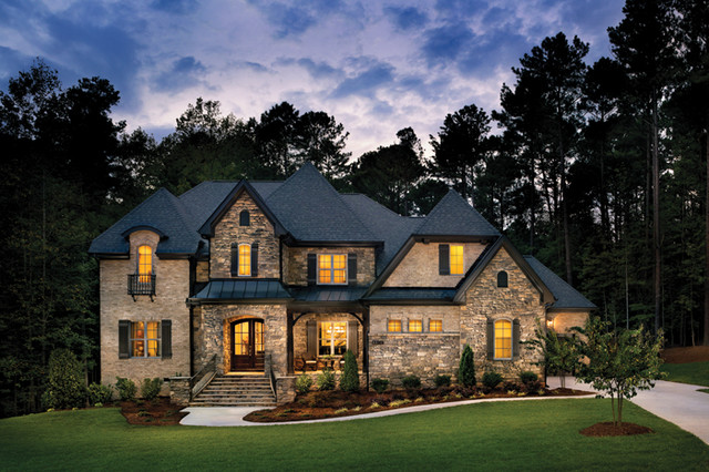 Silver oak 1222 traditional exterior raleigh by for Garner custom homes