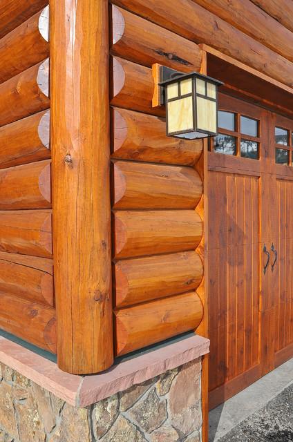 Silverthorne Hybrid Log Solar Rustic Exterior Denver
