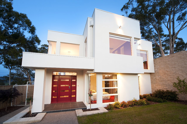 Simple elegance by design unity modern exterior for Simple home front design