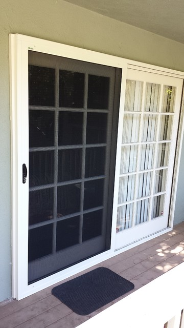 Single Sliding Security Screen Door-South Pasdena