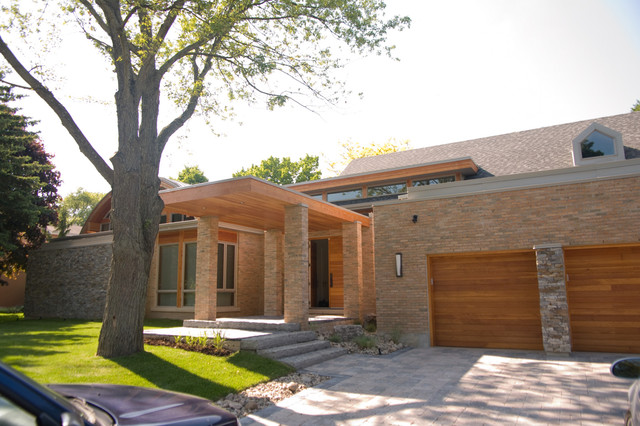 Sisters in Sync contemporary-exterior