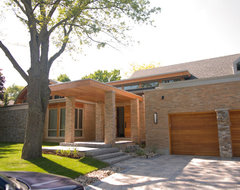 Sisters in Sync contemporary exterior