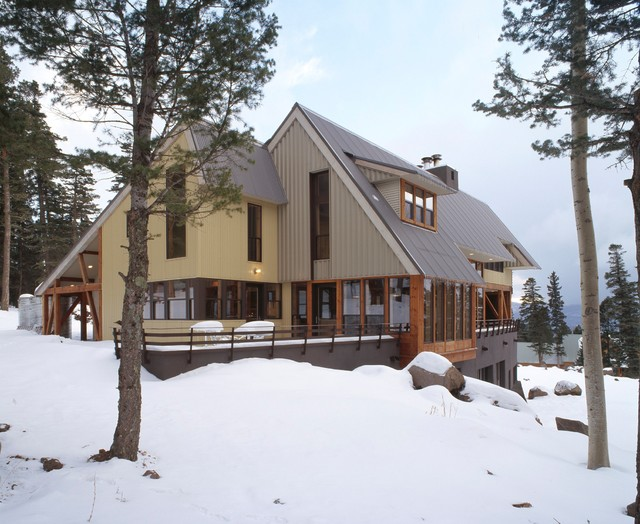 Ski House in Angelfire contemporary exterior