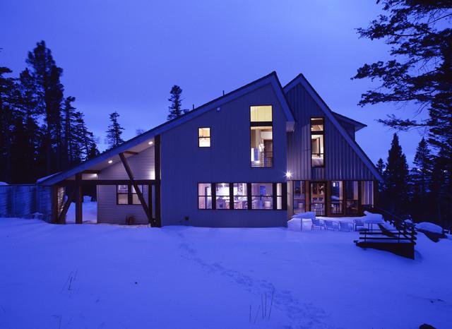 Ski House rustic-exterior
