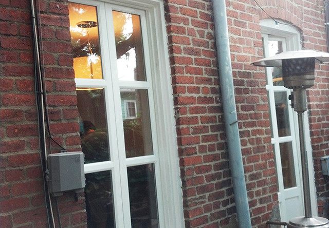 Skinny french doors - Traditional french doors exterior ...