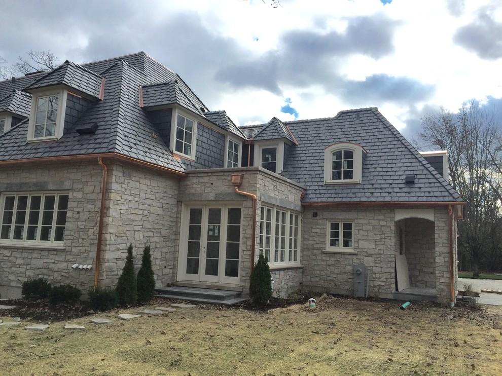 Slate Roof Copper Gutters And Masonry Lake Forest Il