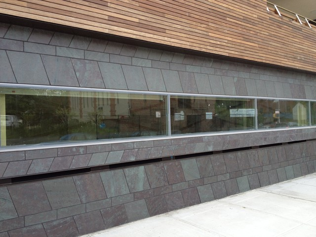 Slate Stone Elevation : Slate wall cladding contemporary exterior other