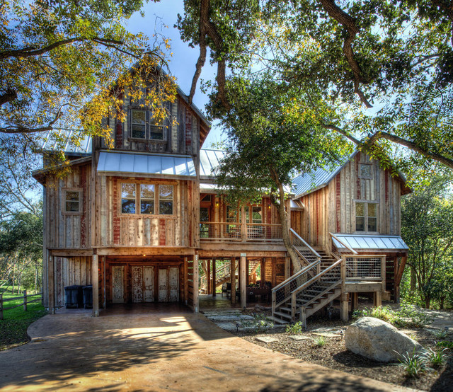 Sleepy Hollow River House Rustic Exterior Austin