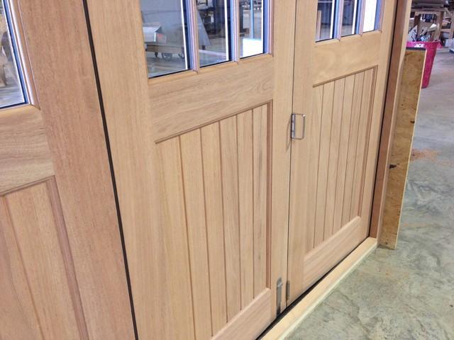 Slide and Fold Mahogany Doors
