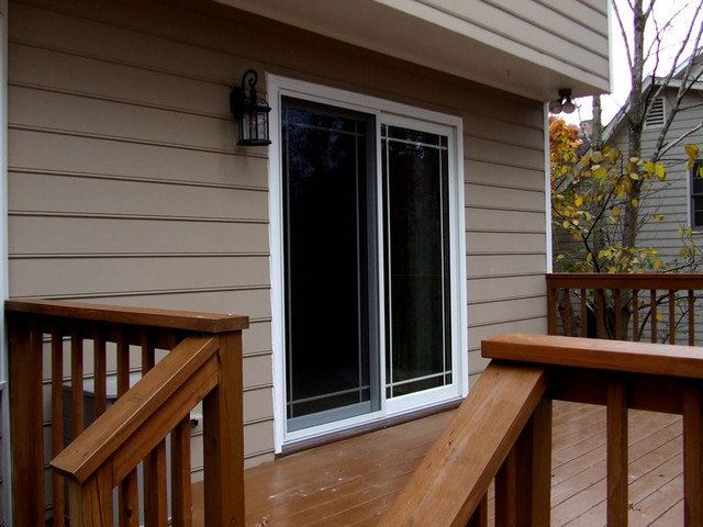 Sliding Glass Door Installed In Apex Nc Traditional