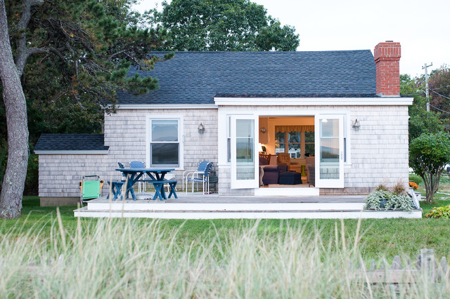 Small Beach House Renovation Beach Style Exterior Portland