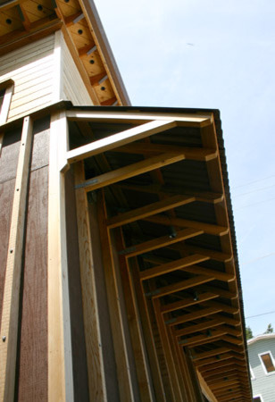 Small residence in Sausalito contemporary-exterior