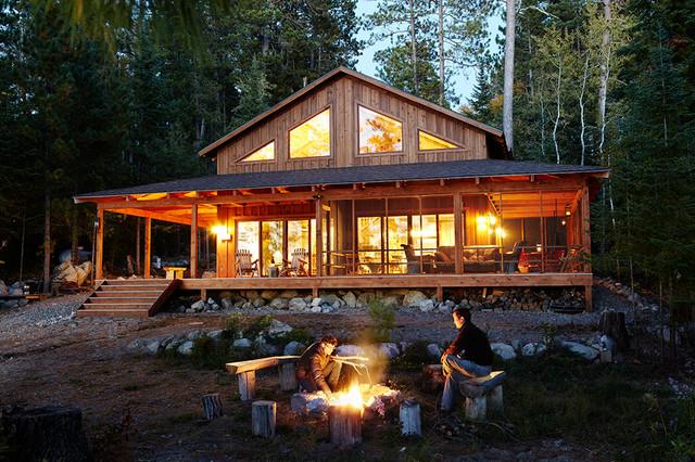 Smith Cabin traditional-exterior