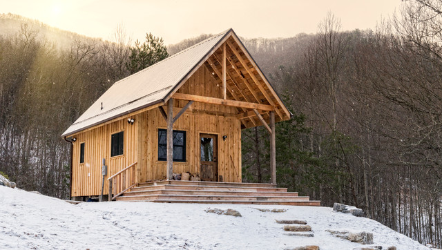 Snuggled in the arms of Pisgah National Forest rustic-exterior