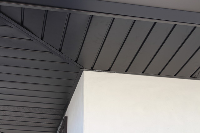 Soffits Fascia And Angle Face Gutters In Dark Bronze