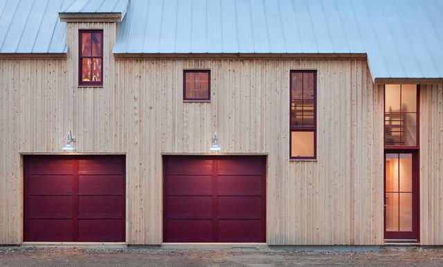 Solar Barn - Modern Barn Home farmhouse-exterior