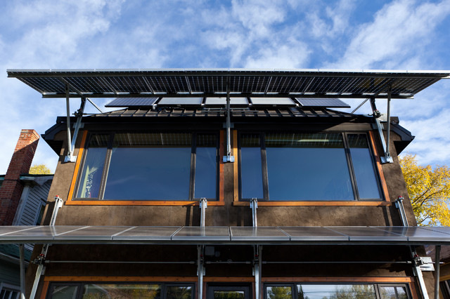 Solar Panel Awnings Contemporary Exterior Edmonton
