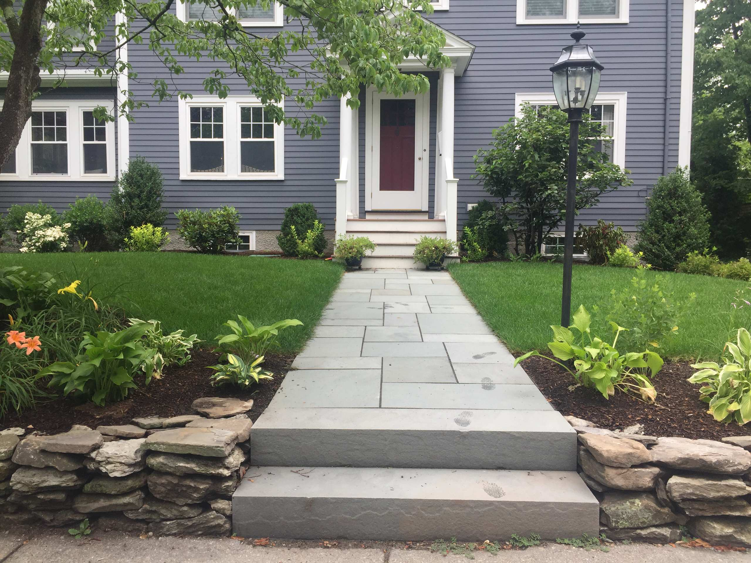solid bluestone steps
