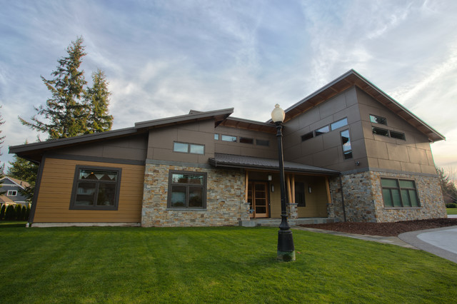 South bellingham wa custom home modern exterior for Accents salon bellingham