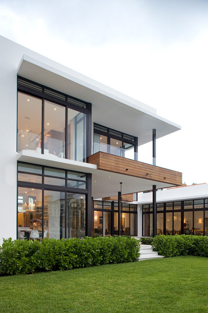 South Island Residence Contemporary Exterior Miami By KZ Architecture