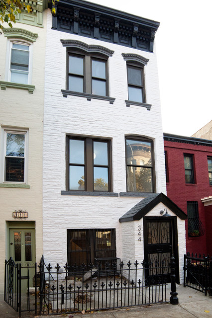 South slope townhouse traditional exterior new york for Townhouse exterior