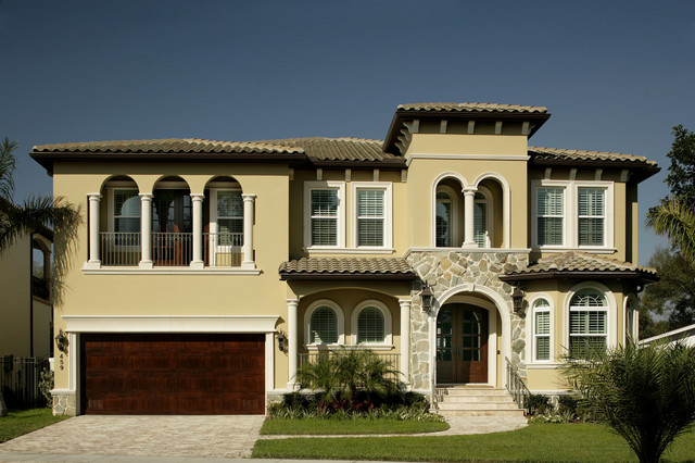 South Tampa Custom Home mediterranean-exterior