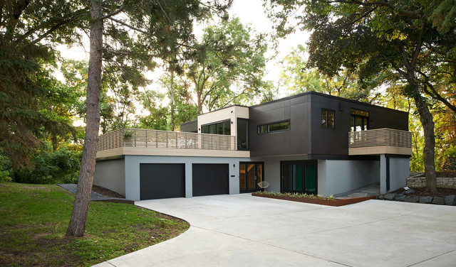 south tyrol remodel modern exterior minneapolis by
