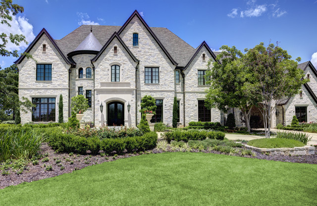 Southlake French Chateaux traditional-exterior