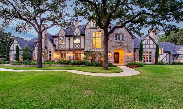 Southlake Tudor Estate Traditional Exterior Dallas By Larry Stewart Custom Homes