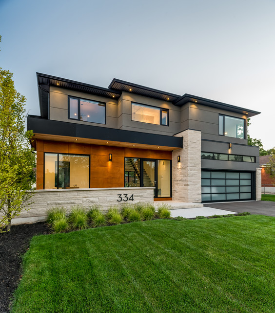 Southview modern home contemporary exterior toronto for Modern house design outside