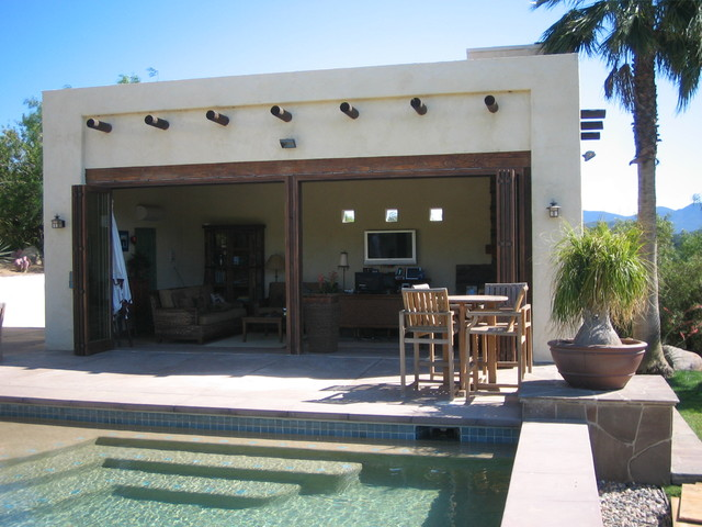 Southwest Cabana And Pool Tropical Exterior